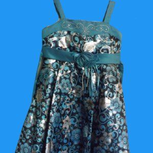 Blue Party Dress Girls Size 4 NWT
